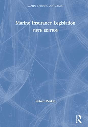Marine Insurance Legislation (Hardback): Professor Robert M. Merkin, Johanna Hjalmarsson, Aysegul ...