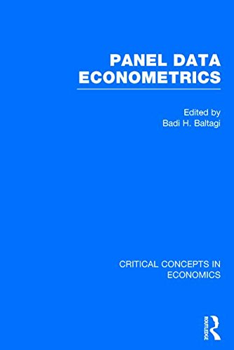 Panel Data Econometrics (Critical Concepts in Economics)