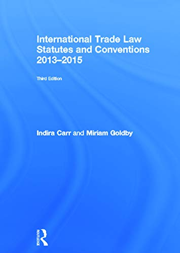 9780415729215: International Trade Law Statutes and Conventions 2013-2015