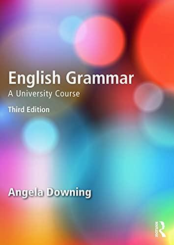9780415732680: English Grammar: A University Course