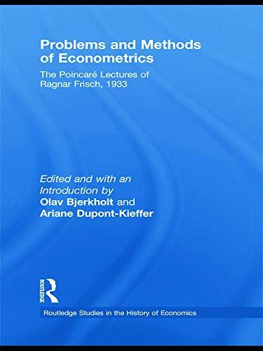 9780415745352: Problems and Methods of Econometrics