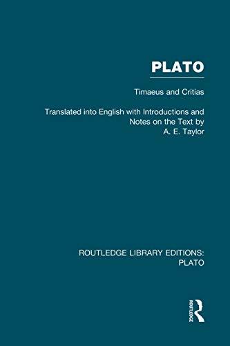 9780415751599: Plato: Timaeus and Critias (RLE: Plato)