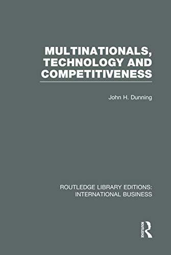 9780415751995: Multinationals, Technology & Competitiveness (RLE International Business)