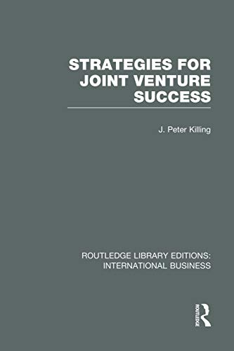 9780415752053: Strategies for Joint Venture Success (RLE International Business)