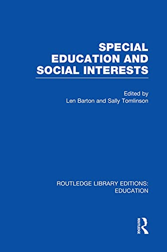9780415753128: Special Education and Social Interests (RLE Edu M)