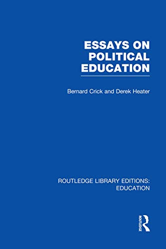 essays on citizenship crick Active citizenship gathers a group of political actors and academics who believe a radically more active citizenship is a worthy aim they spell out how it can be achieved in their particular area of concern, looking at the.