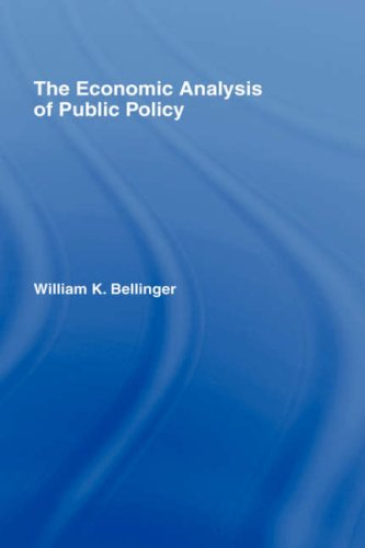 The Economic Analysis of Public Policy: Will Bellinger