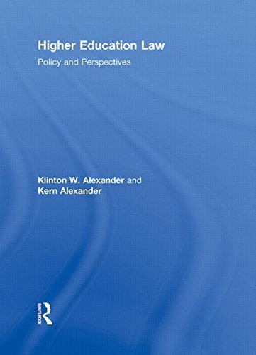 9780415800303: Higher Education Law: Policy and Perspectives