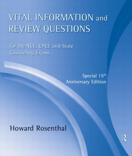 9780415801416: Vital Information and Review Questions for the NCE, CPCE and State Counseling Exams: Special 15th Anniversary Edition