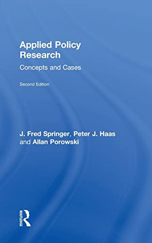 9780415805070: Applied Policy Research: Concepts and Cases