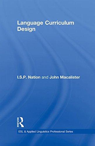 9780415806053: Language Curriculum Design (ESL & Applied Linguistics Professional Series)