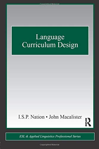 9780415806060: Language Curriculum Design (ESL & Applied Linguistics Professional Series)