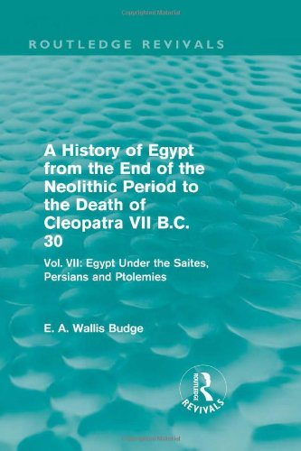 History Of Egypt From The End Of
