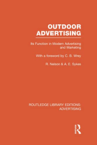 9780415817981: Outdoor Advertising (RLE Advertising)