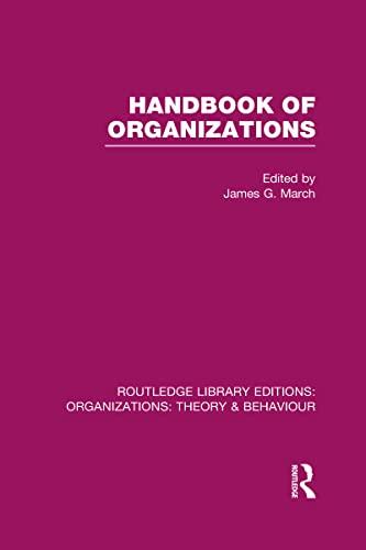 9780415820394: Handbook of Organizations (RLE: Organizations)