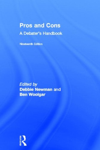 9780415827799: Pros and Cons: A Debaters Handbook