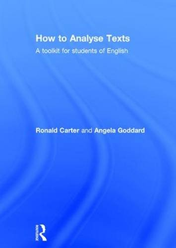 9780415836791: How to Analyse Texts: A toolkit for students of English