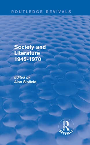 9780415840903: Society and Literature 1945-1970 (Routledge Revivals)