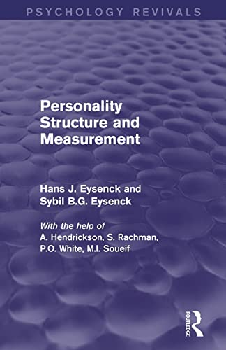 9780415840910: Personality Structure and Measurement (Psychology Revivals)