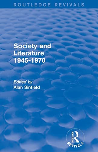 9780415840965: Society and Literature 1945-1970 (Routledge Revivals)