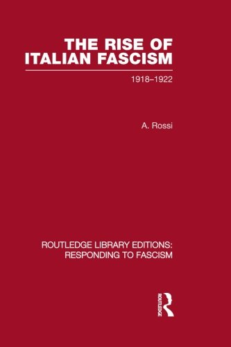 The Rise of Italian Fascism (RLE Responding: Rossi, A