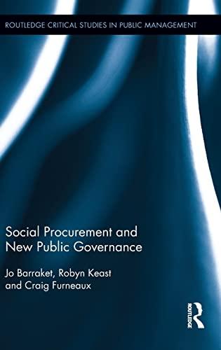 9780415858557: Social Procurement and New Public Governance (Routledge Critical Studies in Public Management)