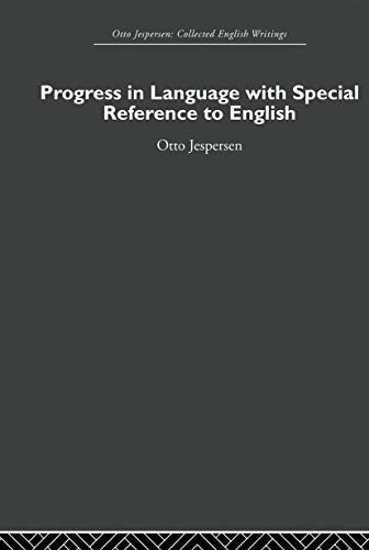9780415860277: Progress in Language, with special reference to English