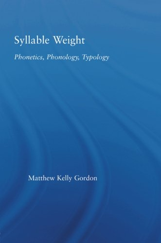 9780415861519: Syllable Weight: Phonetics, Phonology, Typology (Studies in Linguistics)