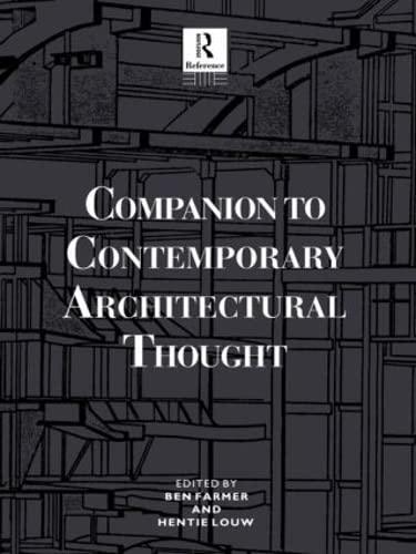 9780415861861: Companion to Contemporary Architectural Thought (Routledge Companion Encyclopedias)