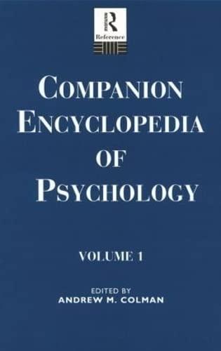 9780415867702: Companion Encyclopedia of Psychology: 2-Volume Set (Routledge Companion Encyclopedias)