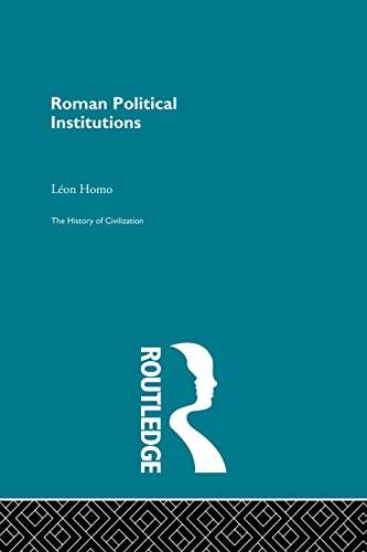9780415868044: Roman Political Institutions