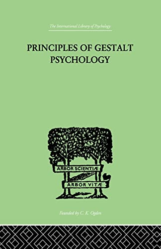 Principles Of Gestalt Psychology: Koffka, K