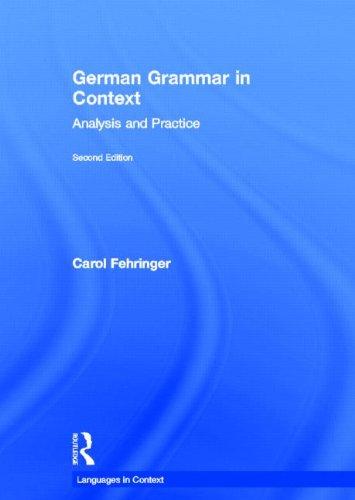 9780415869911: German Grammar in Context, Second Edition (Languages in Context) (German Edition)