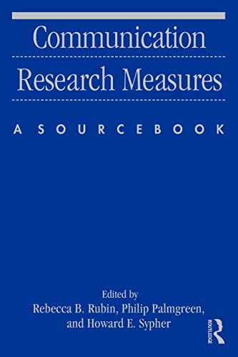 9780415871464: Communication Research Measures: A Sourcebook (Routledge Communication Series)
