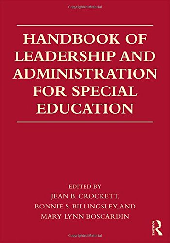 9780415872805: Handbook of Leadership and Administration for Special Education