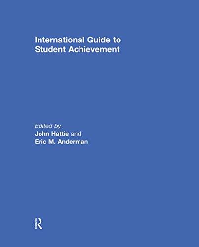9780415878982: International Guide to Student Achievement (Educational Psychology Handbook)
