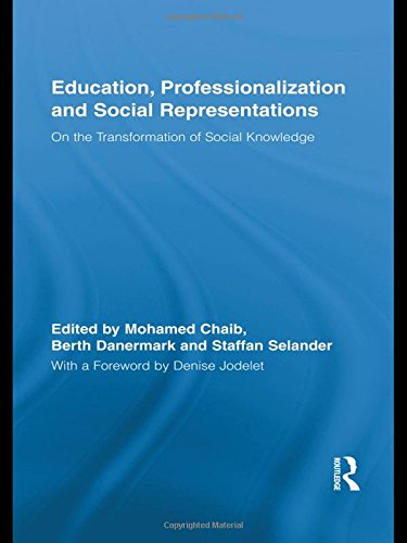 9780415885065: Education, Professionalization and Social Representations: On the Transformation of Social Knowledge (Routledge International Studies in the Philosophy of Education)