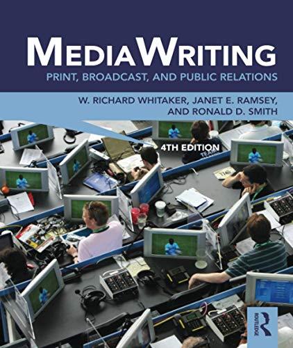9780415888035: MediaWriting: Print, Broadcast, and Public Relations