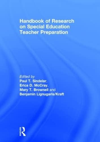 Handbook of Research on Special Education Teacher Preparation (Hardback)
