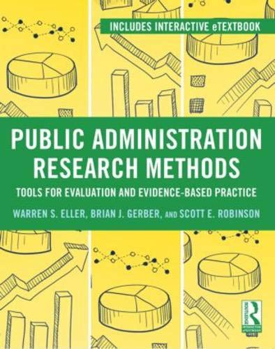 9780415895309: Public Administration Research Methods: Tools for Evaluation and Evidence-Based Practice
