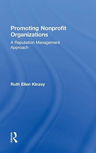 9780415899260: Promoting Nonprofit Organizations: A Reputation Management Approach