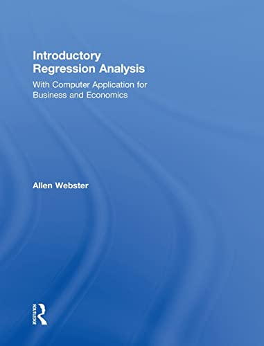 9780415899321: Introductory Regression Analysis: with Computer Application for Business and Economics