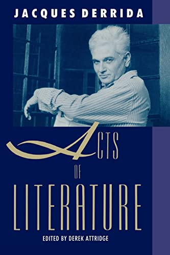 9780415900577: Acts of Literature