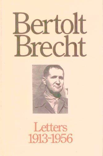 9780415901390: Bertolt Brecht: Letters, 1913-1956