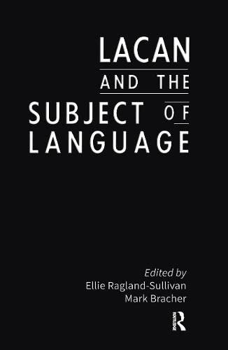 9780415903073: Lacan and the Subject of Language