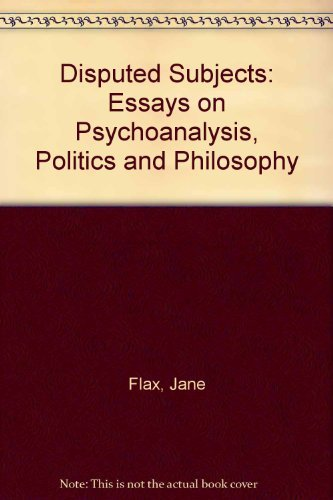 9780415907903: Disputed Subjects: Essays on Psychoanalysis, Politics, and Philosophy