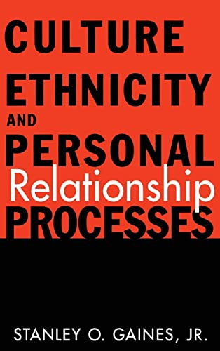 9780415916523: Culture, Ethnicity, and Personal Relationship Processes