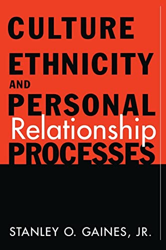 9780415916530: Culture, Ethnicity, and Personal Relationship Processes