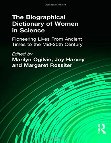 9780415920384: The Biographical Dictionary of Women in Science: Pioneering Lives From Ancient Times to the Mid-20th Century