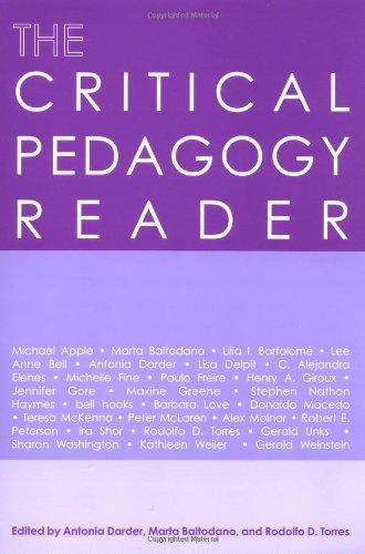 The Critical Pedagogy Reader: Antonia Darder